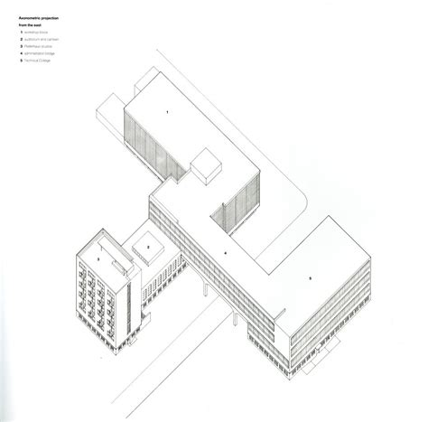 The Bauhaus School In Dessau By Walter Gropius Architecture Bauhaus House Plans