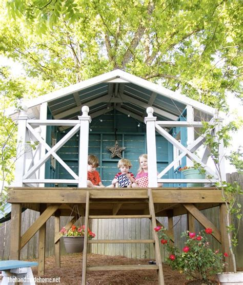 Handmade Home Playhouse - best 25 playhouse outdoor ideas on forts for