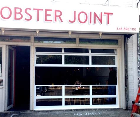Roll Lite Overhead Doors Lobster Joint Restaurant Aluminum And Glass Roll Up Door Ny