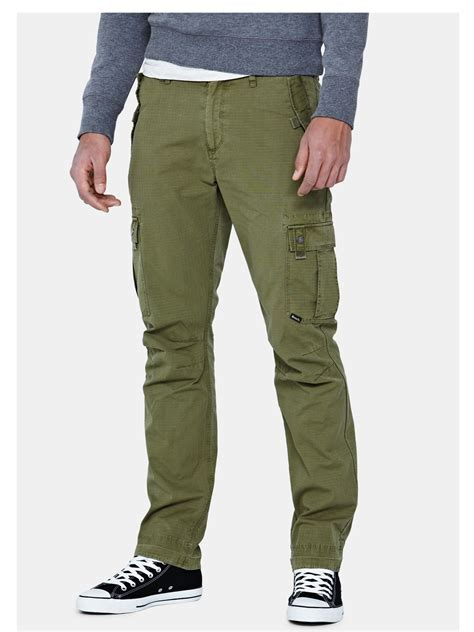mens bench jeans bench bench mens combat pants in green for men olive lyst