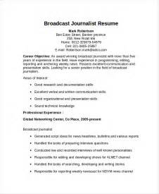 Resume Samples Journalism by Journalist Resume Template 6 Free Word Pdf Document