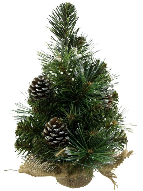 flocked glittered tip table top tree 30cm christmas