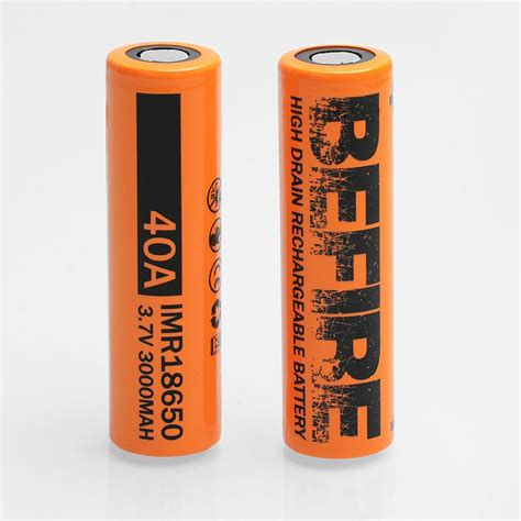 Baterai Vaping Power 3000mah 40a 18650 authentic befire 3 7v 40a 3000mah 18650 rechargeable battery