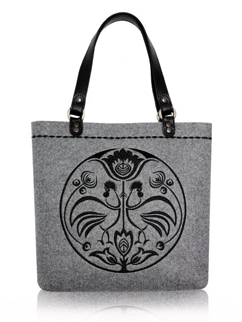 felt bag  embroidery  felt   hand  folk