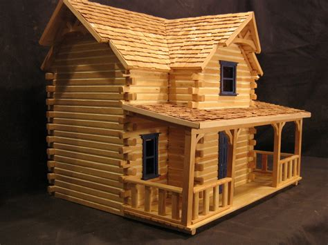 log cabin doll house finished dollhouse cabins joy studio design gallery best design