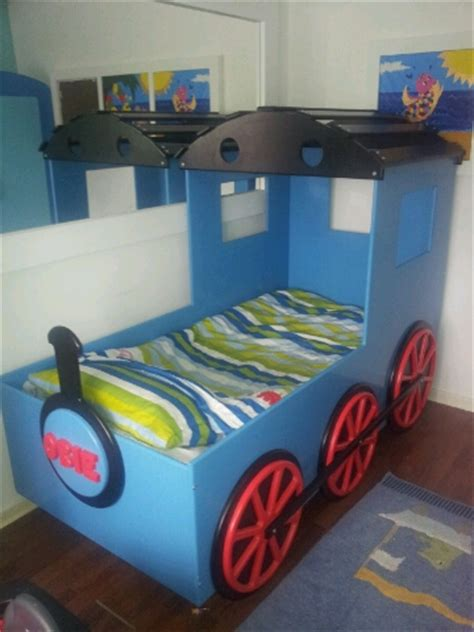 train beds kids designer themed boys train bed single wooden novelty