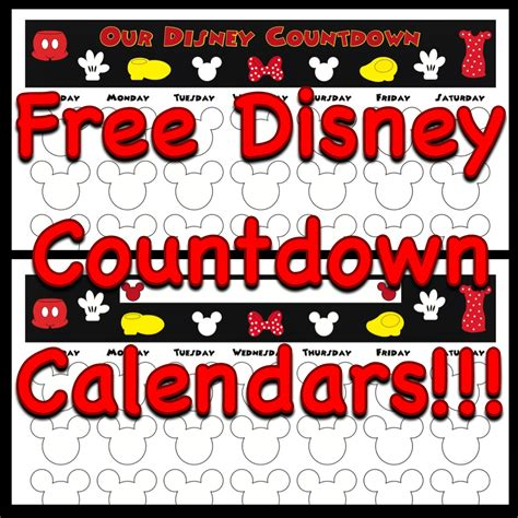 countdown calendar printable template my disney countdown calendars