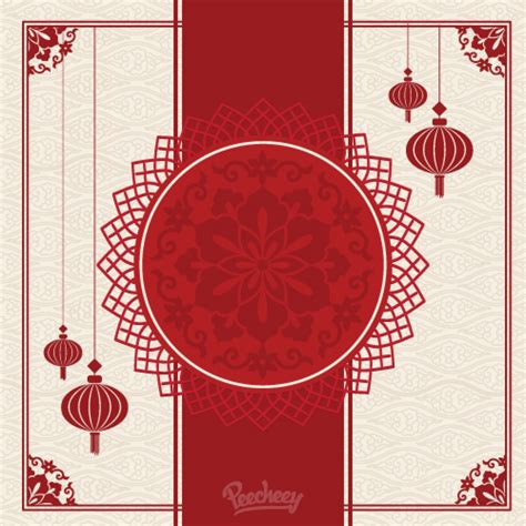 Oriental Design by Traditional Chinese Background Template Peecheey