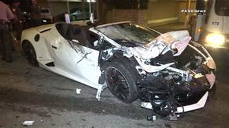 Crash Lamborghini 2 Sought After Lamborghini Crashes Into Parked Car In