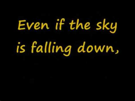 sky is falling down lyrics youtube