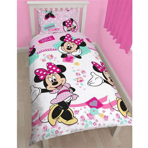 minnie mouse bedding and curtains minnie mouse single duvet cover set matching 66 quot x 54