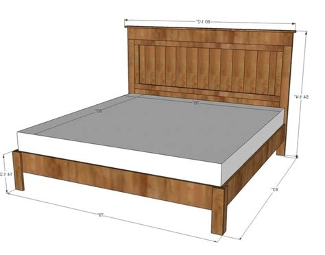 Standard Bed Frame Sizes The 25 Best Standard Size Bed Ideas On Standard King Size Bed Bed