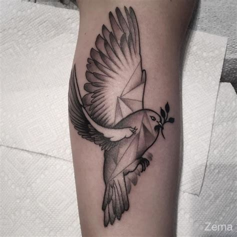 dove with ribbon tattoo designs 75 dove designs and symbolic meaning peace