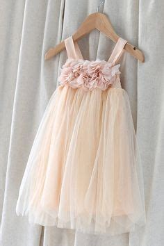 Hello Flower Tule vintage blush tutu flower dress wedding ideas