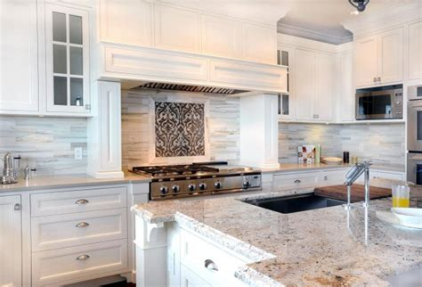 kitchen backsplash for white cabinets bianco romano granite contemporary kitchen enviable