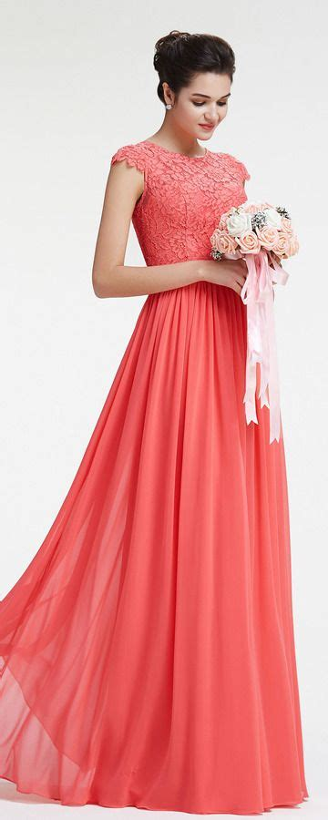 Coral Bridesmaid Dress by Modest Lace Coral Bridesmaid Dresses With Sleeves Coral