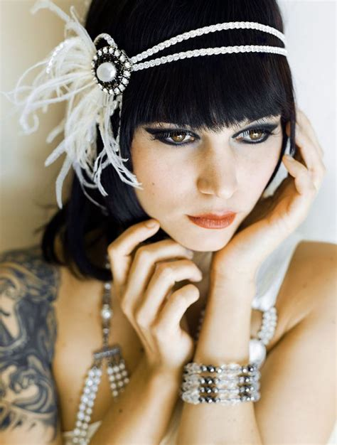 how to make a 1920s hairpiece flapper headband flappers and vintage inspired on pinterest
