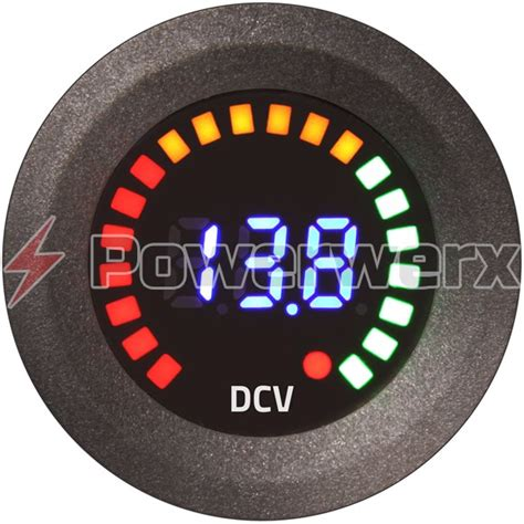 12 meter to powerwerx panel mount segmented digital volt meter with graphic racing display powerwerx