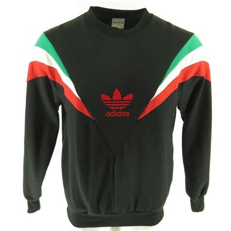 Sweatshirt Adidas 1 vintage 80s adidas trefoil sweatshirt mens l deadstock flock print rocky the clothing vault