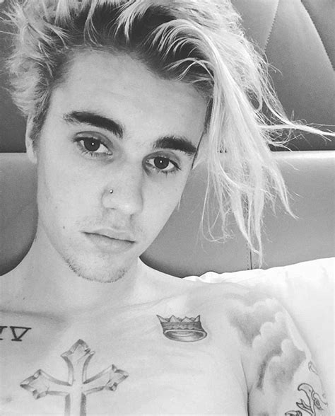 nude bedroom selfies justin bieber reveals new nose piercing in shirtless bedroom selfies while on tour