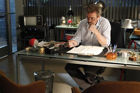 The Office Desk Episode Props Why Does House An Tv In His Office