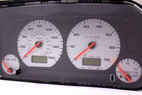 gauge instrument cluster speedometer   jetta glx gti