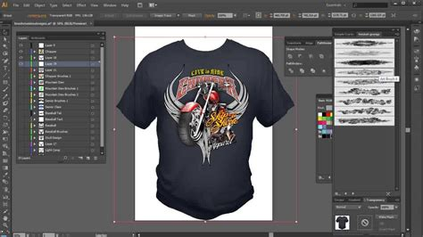 tutorial illustrator t shirt design illustrator brushes high end tshirt design tutorial youtube