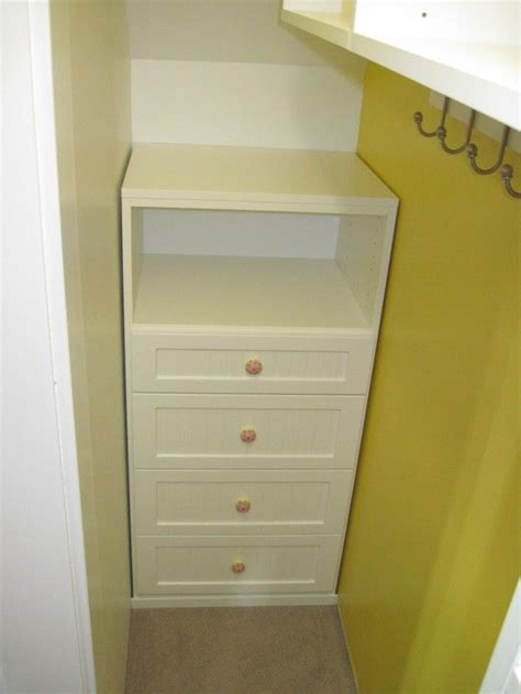 Closet With Drawers And Shelves 25 Best Ideas About Narrow Closet On