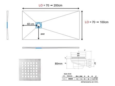 dimension receveur receveurs de longueur 120 receveur de en r 233 sine sur mesure 120 cm