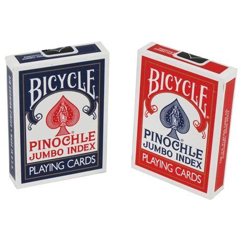 large cards bicycle cards pinochle jumbo index