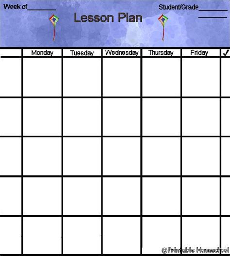 printable lesson plan sheets free printable lesson plan forms daycare kids pinterest