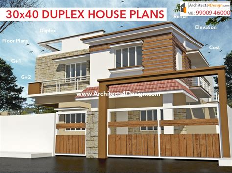 30x40 Duplex House Plans 30x40 House Plans In Bangalore For G 1 G 2 G 3 G 4 Floors 30x40 Duplex House Plans House Designs