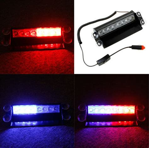 Emergency Lights For Cars by New Car Styling 8 Led Blue Car Strobe Flash