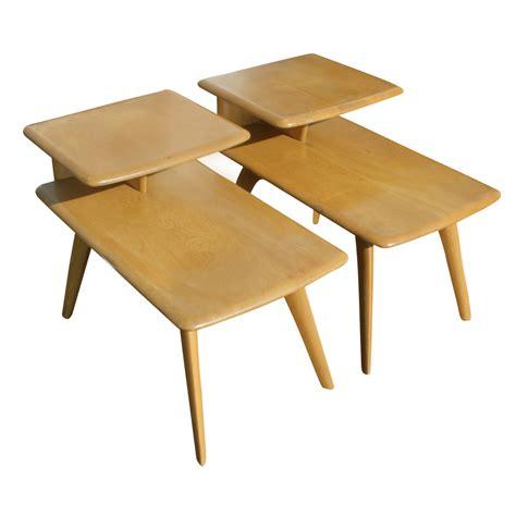Vintage End Table by 2 Vintage Heywood Wakefield Wheat Step End Table M308g Ebay