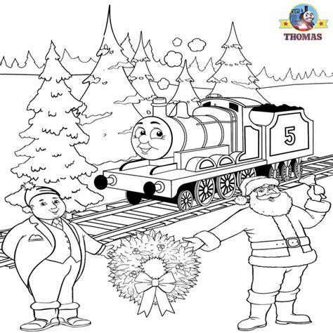 thomas christmas coloring sheets for children printable