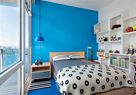 warna cat kamar  bagus biru putih rumah minimalis