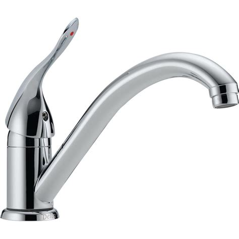 delta classic single handle standard kitchen faucet in chrome 101lf hdf the home depot