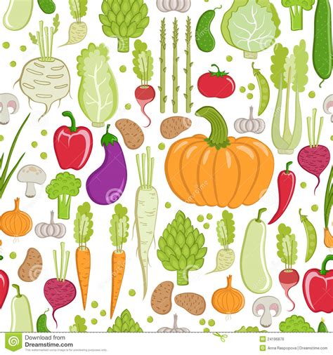 Vegetables Pattern Wallpaper | vegetable pattern royalty free stock image image 24196876