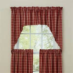 Top It Off Valance Ellery Homestyles Red Plaid Curtains