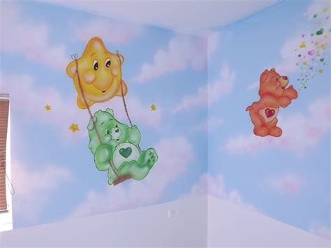 Care Bears Nursery Decor with Care Murals Baby Room Ideas Pinterest