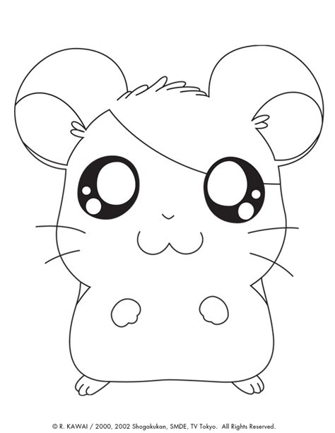 hamtaro cute animals coloring pages