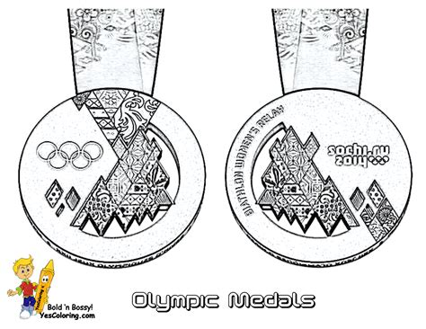 Big Freeze Winter Sports Coloring Sports Skiing Olympic Medal Coloring Page