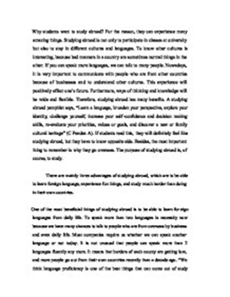 Scholarship Essay Exles For Study Abroad Study Abroad Application Essay Sle Mfawriting877 Web Fc2