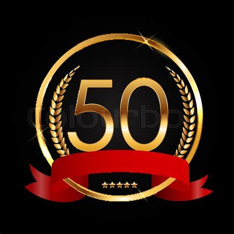 Template Logo 50 Years Anniversary     Stock Vector
