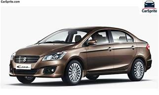 Suzuki Cost Suzuki Ciaz 2017 Prices And Specifications In Car