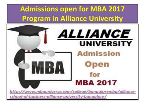 Mba Admission 2017 In Bangalore by Alliance School Of Business Alliance Bangalore
