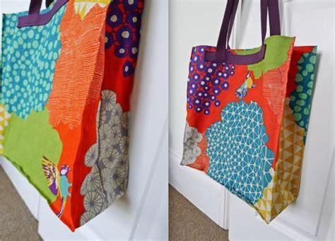 pattern for tote bag with gusset unlined cotton canvas tote with integrated water bottle
