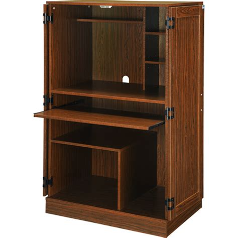 Planet 3 Hideaway Walnut Computer Armoire Furniture Computer Armoire Walmart