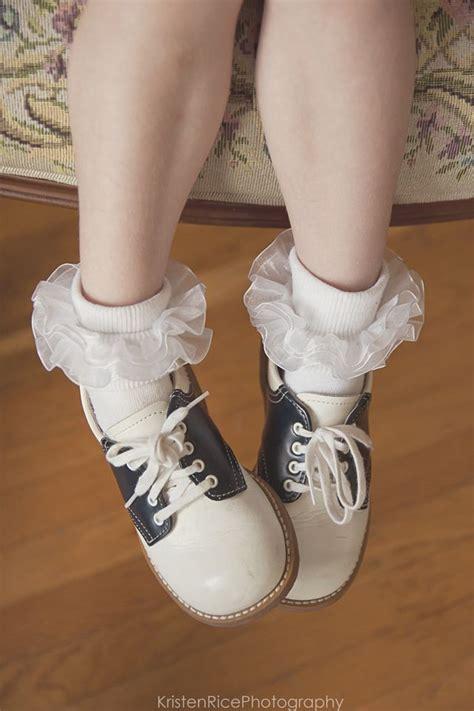 saddle shoes vintage retro navy blue and white ruffle
