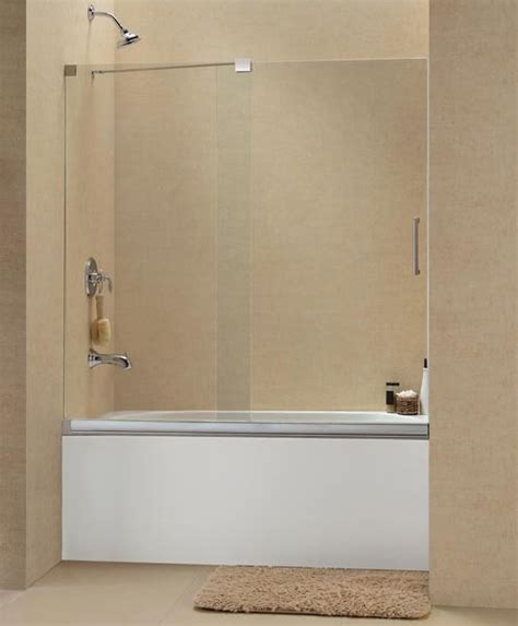 Shower Door Tub Dreamline Mirage Frameless Sliding Tub Door 56 60 Quot Shdr 1960582 Modern Shower Doors New